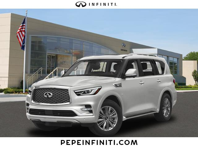 New 2019 Infiniti Qx80 Luxe 4wd Suv In White Plains 42971 Pepe
